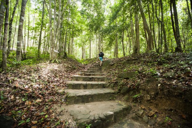 taking time to reduce stress in nature
