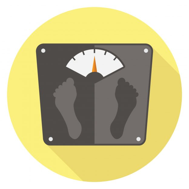 Scale determining if there is weight-gain
